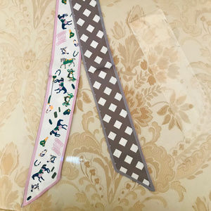 Hermes Dupe Horse  Hair Tie Neck Scarf Bandana